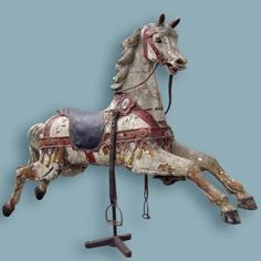Put one of these in your house! u'll be labeled a baller!!! (German antique carousel horse)