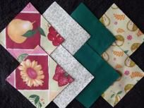 """40 4"""" Charm Squares """"Fruit"""" - Fabric Quilt Squares for Sewing or Crafts"""