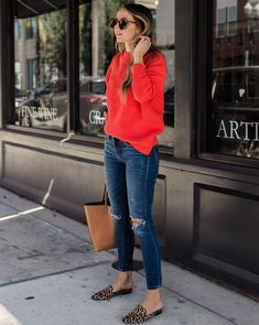 30 Casual Outfits Looks to Inspire Your Autumn Wardrobe - Loafers Outfit - Ideas of Loafers Outfit - cute outfit_red sweater ips bag loafers Look Fashion, Autumn Fashion, Fashion Outfits, Womens Fashion, Fashion Ideas, Winter Dress Outfits, Casual Outfits, Work Outfits, Dress Winter