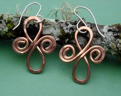 Celtic Infinity Spirals Copper Earrings  by nicholasandfelice, $18.00