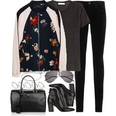 Untitled #899 by elly98 on Polyvore featuring IRO, Zara, AG Adriano Goldschmied, Yves Saint Laurent, ASOS and Michael Kors