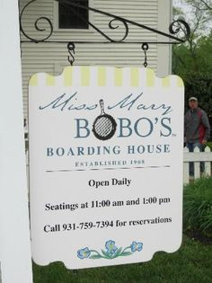 Miss Mary Bobo's Boarding House: Resturant