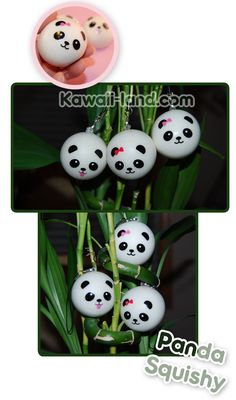 Kawaii Squishy Panda Bear Phone Charm