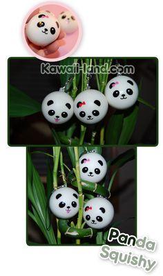 Kawaii Squishy Panda Bear Phone Charm