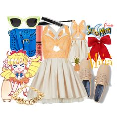 """Summer: Minako"" by sailormooncloset on Polyvore"