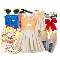 """Summer: Minako"" by sailormooncloset on Polyvore"