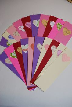 Valentine bookmarks. Laminate and bring to school!