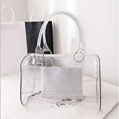 Waterproof Transparent Boston Shopper Shoulder Handbag