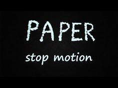 Este stop motion está realizado con papel. Hacer mi stop motion con papel es la segunda opcion que tengo en mente ya que me parece una solución muy interesante y más o menos fácil de emprender.