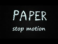 PAPER Stop motion - YouTube