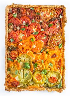 Savor summer's finest heirloom tomatoes and fresh herbs by layering them in a cheddar-and-thyme piecrust. Lemon thyme and lemon basil infuse the dish with citrusy, fragrant notes, but regular thyme and basil also get the job done.