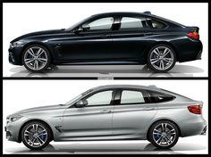 BMW 4-series Gran Coupe vs. 3-series Gran Turismo, side profile