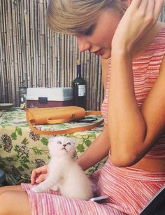 Taylor Swift's pet kitten is getting some adorable celebrity love