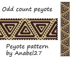 Pattern made with size 11/0 Miyuki Delica seed beads Approx width: 1.22 (23 columns) Approx length: 6.98 Technique: Odd Count Peyote Colors: