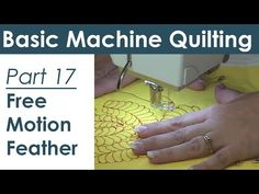 Free Motion Quilting a Feather Design on Your Home Machine - YouTube
