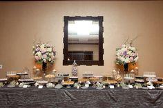 Lavender and Grey Dessert Table | Cocoa & Fig Dessert Tablescape