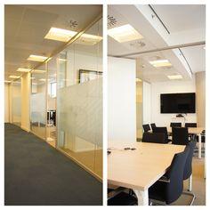 #Oficina #moderno #contract via @planreforma #sillas #escritorio #vidrio #lamparas #iluminacion #suelos