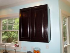 How To Gel Stain Your Kitchen Cabinets | Confessions of a Semi-Domesticated Mama