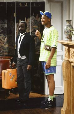Still of Will Smith and Joseph Marcell in The Fresh Prince of Bel-Air (1990)