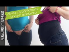 Tutorial: Pantalones para embarazo, ahorra dinero - Los290ss - YouTube