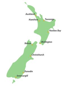 MAP OF NZ - Google Search