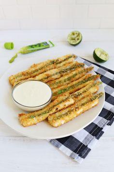 Crunchy and Cheesy Asparagus Sticks (via abeautifulmess.com)