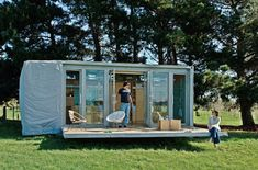 The Port-a-Bach, a shipping container cabin by Atelierworkshop