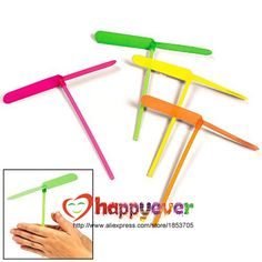 24PCS Plastic Dragonfly Assortment Mini Whirl A Copter Helicopter Birthday Pinata Fillers Kids Party Toy Favor Bag-in Event