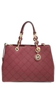 MICHAEL+Michael+Kors+'Medium+Cynthia'+Leather+Satchel+available+at+#Nordstrom