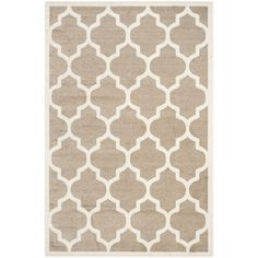 Safavieh Indoor/ Outdoor Amherst Wheat/ Beige Rug (8' x 10') | Overstock™ Shopping - Great Deals on Safavieh 7x9 - 10x14 Rugs
