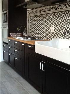 Image result for black & white kitchens