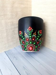 Dot Art Painting, Rock Painting Designs, Mandala Painting, Pottery Painting, Painted Coffee Mugs, Hand Painted Mugs, Painted Cups, Mandala Painted Rocks, Painted Flower Pots