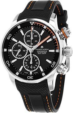 Maurice Lacroix Pontos S Chronograph Herren Schwarz Zifferblatt Schwarz Rubber Strap Swiss Automatik Uhr pt6008-ss001–332–1