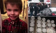 Colt Vinson, 4, of Oklahoma City delivered pizza and coffee to a group of police officers on Tuesday who were standing in the cold during a 16 hour standoff.
