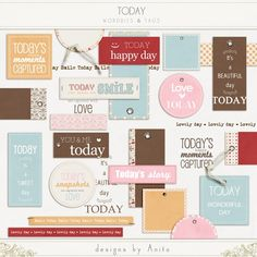 Today - wordbits & tags  by designs by Anita