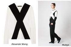 Alexander Wang es clonado por marcas low cost #AlexanderWang #clonado #jersey #pullover #camiseta #cruz #moda