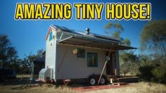 Amazing Off the Grid Tiny House on Wheels. Notice the dish storage is simply the same as the drying rack.