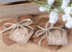Rustic Wedding Tags  MINI 2 x 2 Wedding Favor