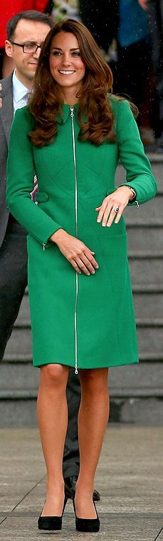 Kate Middleton in Erdem Coat and Suzannah Dress