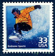 US Stamp - Celebrate the Century 1990s Extreme Sports Snowboarding