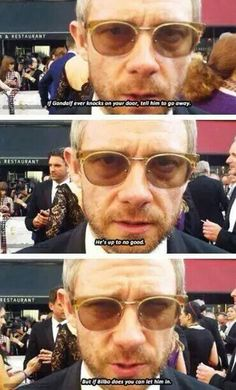 Aww Martin. I'd let Bilbo in.....but I think I wouldn't let him out again. LOL // I agree :D