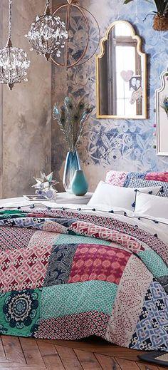 Bohemian Bedding - Patchwork Quilt - Teen Girl Bedding