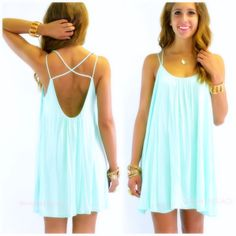 Bahama Babe Mint Swing Cami Dress