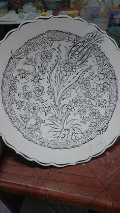 China Painting, Ceramic Painting, Painting Prints, Turkish Design, Turkish Art, Stencil Designs, Paint Designs, Tile Patterns, Pattern Art