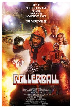 Rollerball (1975) R | 2h 5min | 25 June 1975 (USA) - In a corporate-controlled future, an ultra-violent sport known as Rollerball represents the world, and one of its powerful athletes is out to defy those who want him out of the game.