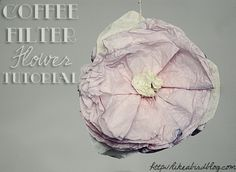 how to dye coffee filters to make flowers