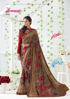 Wear this #Multicolor #Georgette_Saree from Laxmipati at an upcoming special occasion and let all eyes follow you. Get the attention you deserve! #Catalogue #JAIMALA #Design Number: 4485 #Price - ₹1492.00.00 Laxmipati Sarees, Georgette Sarees, Kurti, Saree Shopping, Printed Sarees, All About Eyes, Daily Wear, Bridal Collection, Print Design