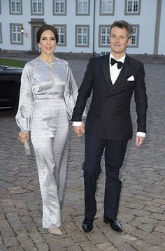 Princess Mary and Princess Marie of Denmark attend dinner party for Queen…