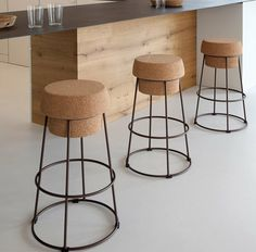 chaises bar design original cuisine moderne