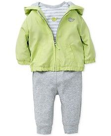Little Me Baby Boys' 3-Piece Whale Shirt, Jacket & Pants Set